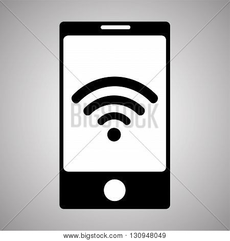 Wi- Fi icon isolated on background. Smartphone Wi- Fi.