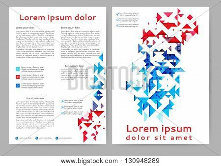 Abstract colored brochure template with geometric elements for your business