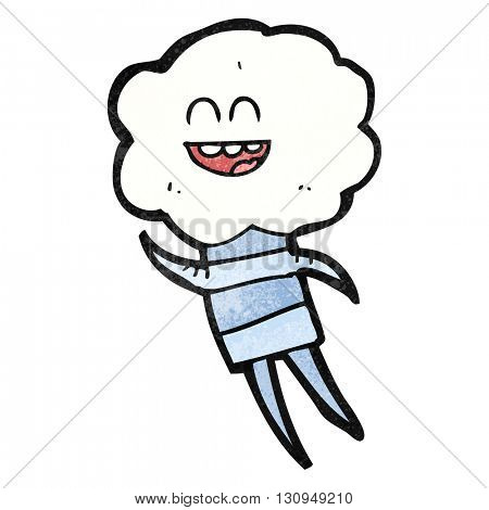 freehand textured cartoon cute cloud head creature