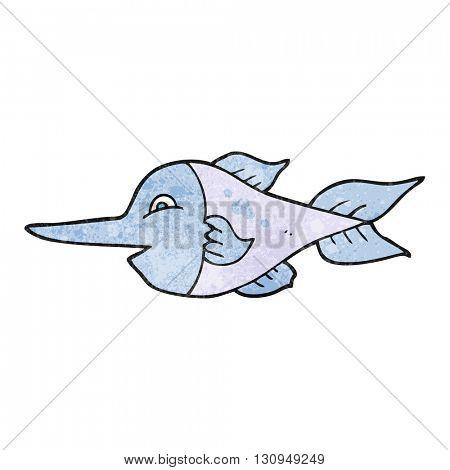 freehand textured cartoon swordfish