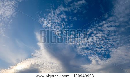 A Beautiful blue sky scape with clouds