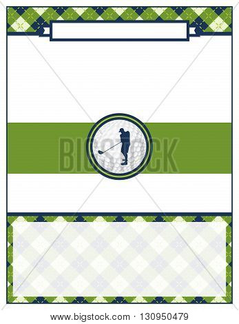 Golf Tournament Flyer Blank Template