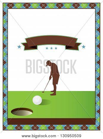 Blank Golf Tournament Flyer Template