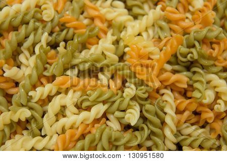 A mixed pasta macaroni noodles meal background