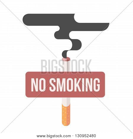 Icons about smoking, vector illustration flat, the dangers of smoking, health problems due to smoking, nicotine dangerous smoke, danger to life and limb due to nicotine