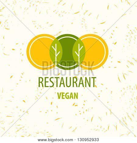 Vector Template Logo. Restaurant Logo. Vegan Restourant.