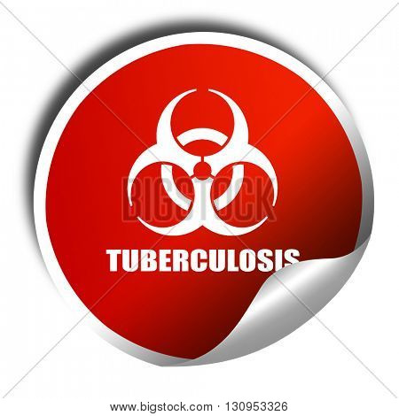 Tuberculosis virus concept background, 3D rendering, red sticker