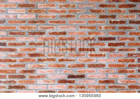 natural terracotta brick wall for background and texture