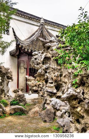 The Lion Grove Garden, a UNESCO heritage site in Suzhou, China