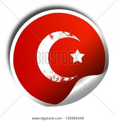 Islam faith symbol, 3D rendering, red sticker with white text