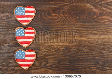 Cookies With American Patriotic Thematic Color