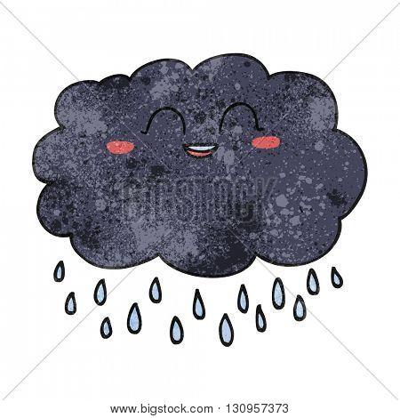 freehand textured cartoon raincloud