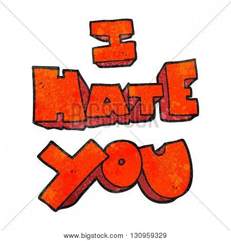 I hate you freehand textured cartoon symbol