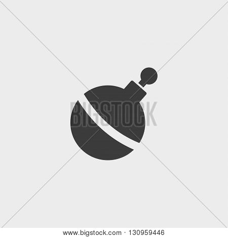 Bomb icon in a flat design in black color. Vector illustration eps10