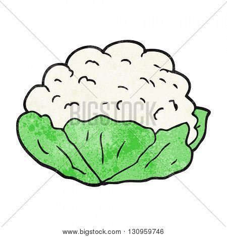 freehand textured cartoon cauliflower