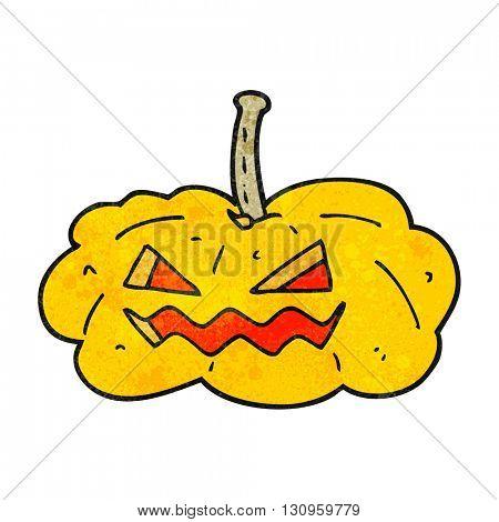 freehand textured cartoon halloween pumpkin
