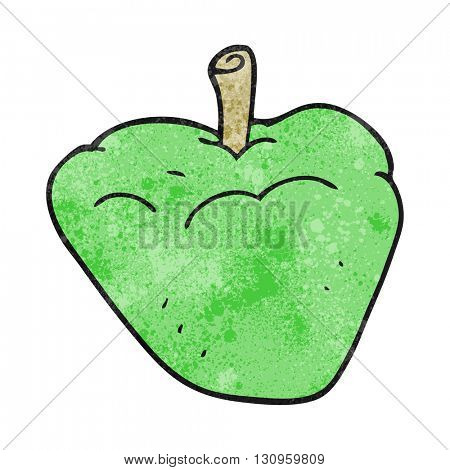 freehand textured cartoon organic apple