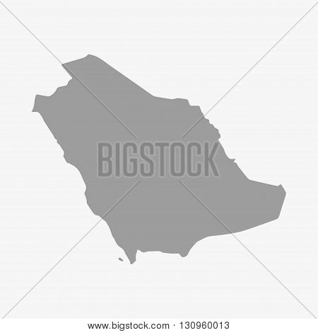 Saudi Arabia map in gray on a white background