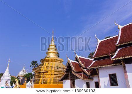 Phra That Si Chom Thong Vora Vihan pagoda, Chiangmai, Thailand