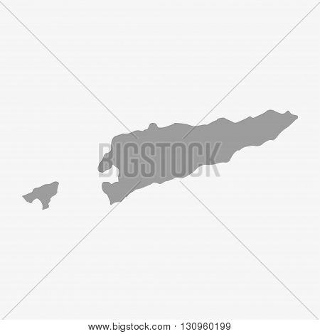 East Timor map in gray on a white background