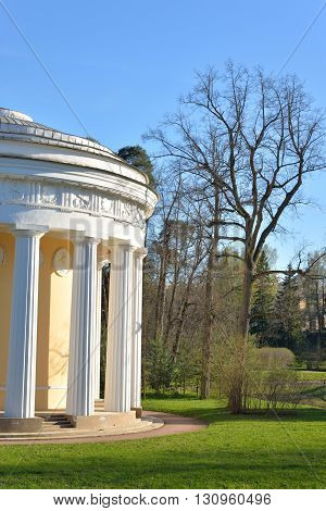 Temple of Friendship pavilion in Pavlovsk Park on the outskirts of St. Petersburg Russia.