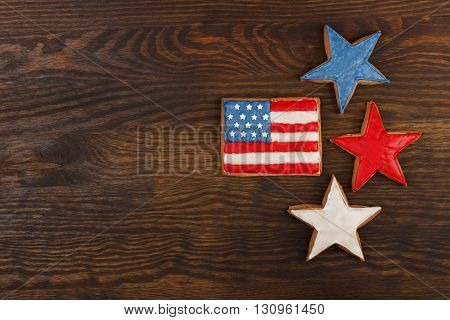 Cookie With American Patriotic Colors