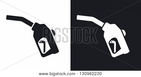 Vector filling gun icon. Two-tone version on black and white background