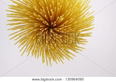 spaghetti on the whit background