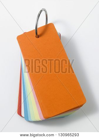 colorful blank note pad on the white background