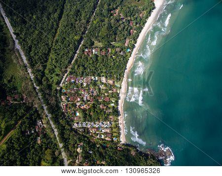 Top View of Brazilian Coastline