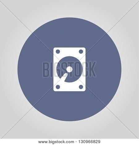 hard disk icon. Flat design style eps 10