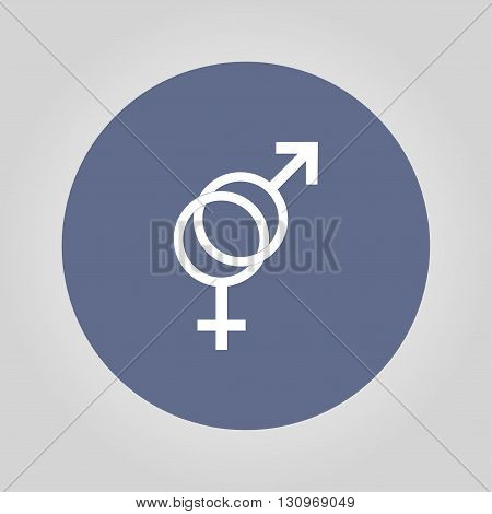 Male and female sex symbol - vector illustration.