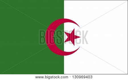 Algeria flag image for any design in simple style
