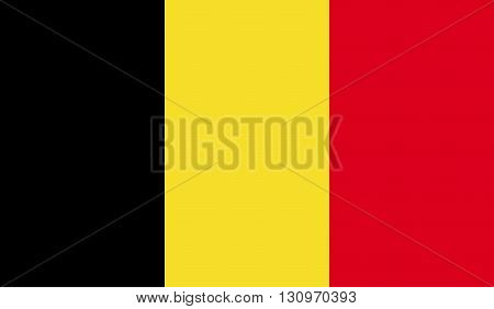Belgium flag image for any design in simple style