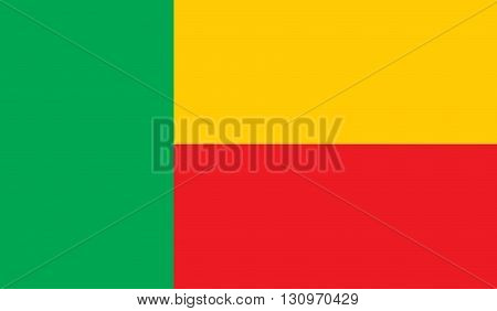 Benin flag image for any design in simple style