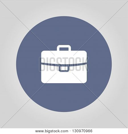 Briefcase icon Flat vector illustration. EPS 10