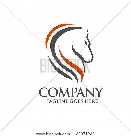 elegant Head Horse symbol Template Vector concept