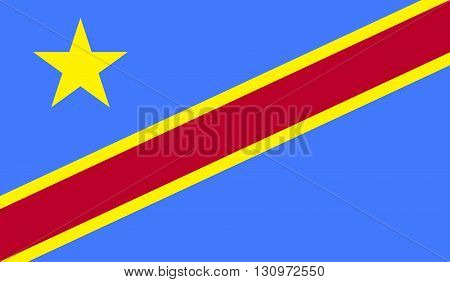 Democratic Republic of the Congo flag image for any design in simple style