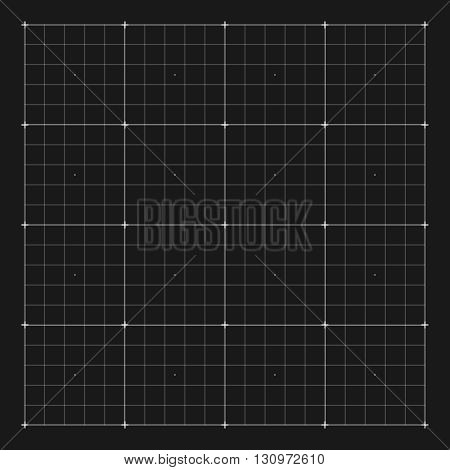 Vector grid marking for user HUD interface. Grid digital, system grid hud screen, interface hud, electronic virtual hud illustration
