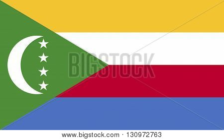 Comoros flag image for any design in simple style