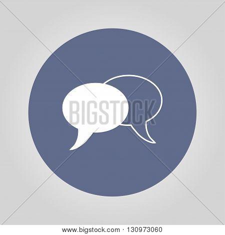 Speech bubbles icon. vector illustration EPS 10