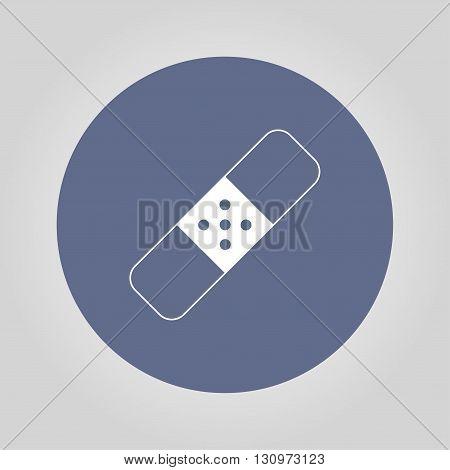 Plaster icon. Flat design styled. Flat design style eps 10