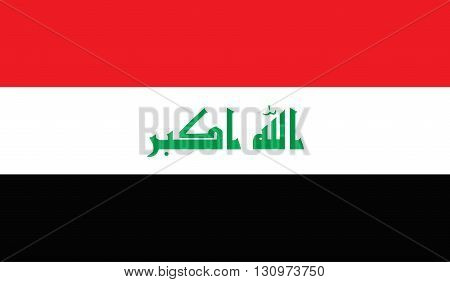 Irak flag image for any design in simple style
