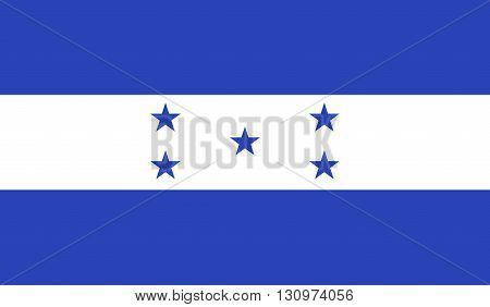 Honduras flag image for any design in simple style