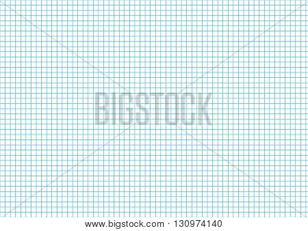 Five millimeters cyan grid on a4 size horizontal sheet
