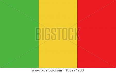 Mali flag image for any design in simple style