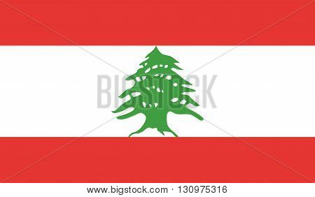 Lebanon flag image for any design in simple style