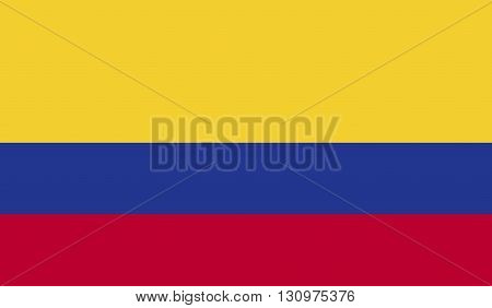 Colombia flag image for any design in simple style