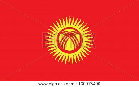 Kyrgyzstan flag image for any design in simple style