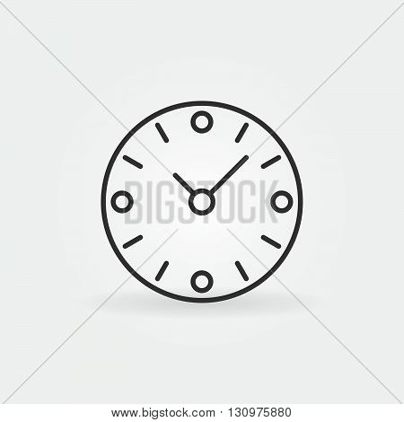 Clock icon - vector outline concept time sign or logo element